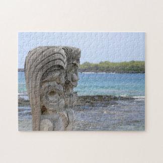 Tiki Guardians in Kona, Hawaii Jigsaw Puzzle