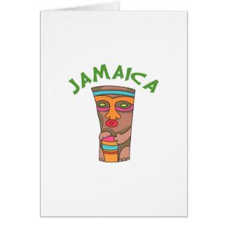 TIKI JAMAICA GREETING CARD