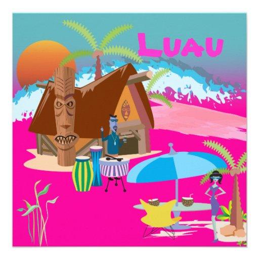 Tiki/Luau at the beach Custom Invite