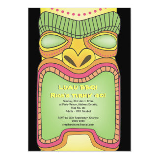 Tiki Luau Hawaiian Tropical Theme Beach Party Card