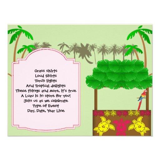 Tiki Luau Party Invitation