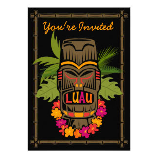 Tiki Luau Personalized Invitation