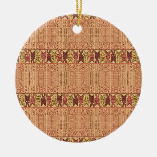 Tiki Luau Round Ceramic Decoration