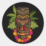 Tiki Luau Round Stickers