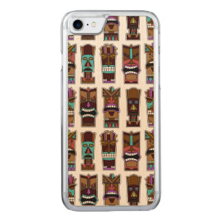 Tiki Masks Pattern Carved iPhone 8/7 Case
