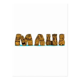 Tiki Maui Postcard