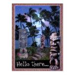 Tiki Moon (customisable) Post Cards