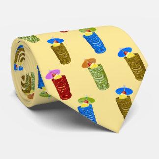 Tiki Mugs Tropical Cocktail Yellow Single-sided Tie