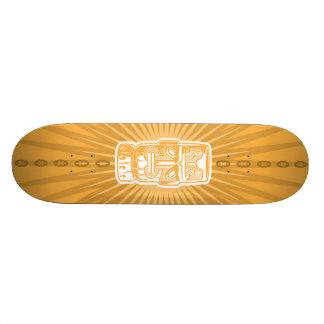 Tiki Orange skateboard