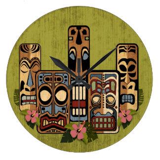 Tiki Party II Wall Clock