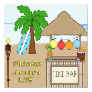 Tiki Party Invitations