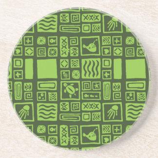 Tiki Pattern Coaster