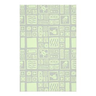 Tiki Pattern Customized Stationery