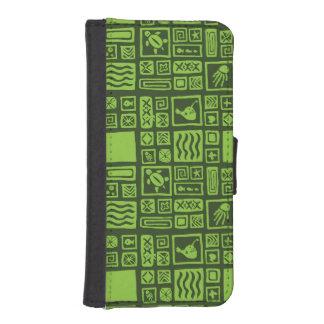 Tiki Pattern iPhone SE/5/5s Wallet Case