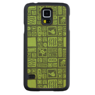 Tiki Pattern Maple Galaxy S5 Slim Case