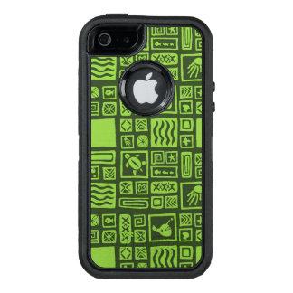 Tiki Pattern OtterBox Defender iPhone Case