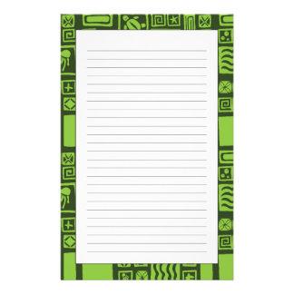 Tiki Pattern Personalized Stationery