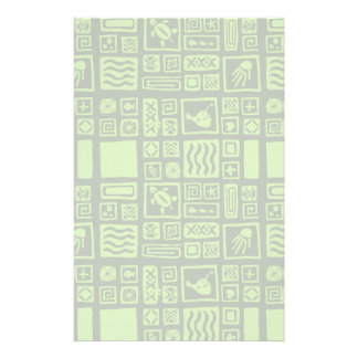Tiki Pattern Custom Stationery