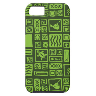 Tiki Pattern Tough iPhone 5 Case