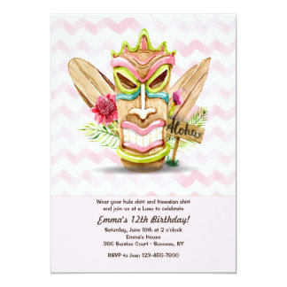Tiki Pink Invitation