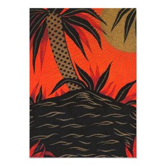 Tiki Polynesian Tropical Nights Luau Invitation