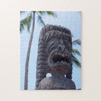 Tiki Statue in Kona, Hawaii Jigsaw Puzzle