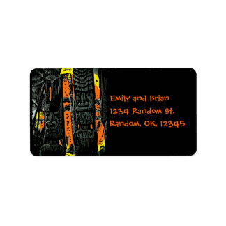 Tiki statue sunrise address labels