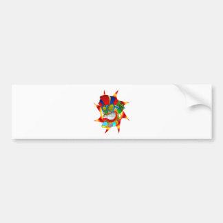 Tiki Sun God Bumper Sticker