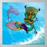 Tiki Surfer Poster