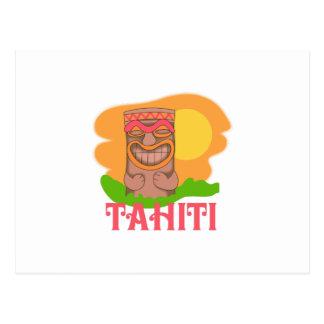TIKI TAHITI POSTCARD