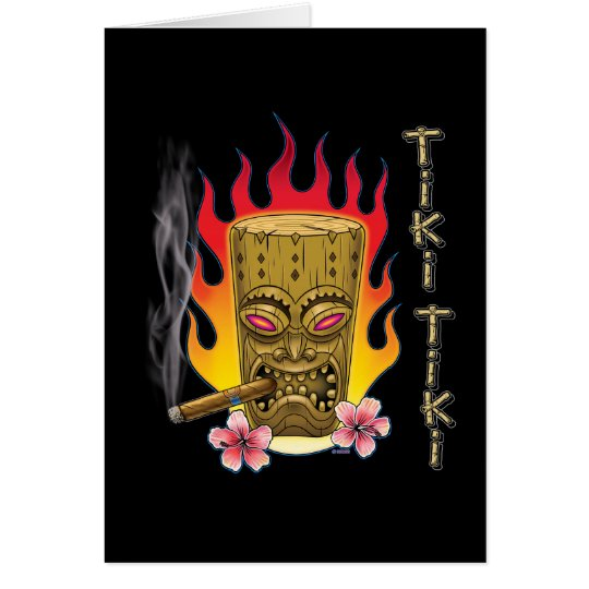 Tiki Tiki Note Card
