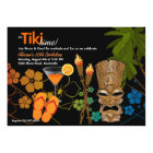 Tiki Time Party Invitation