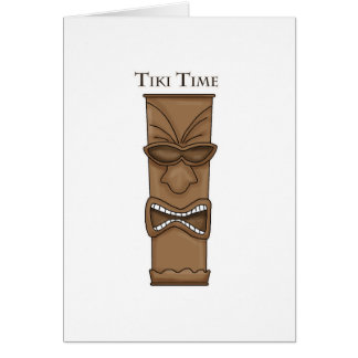 Tiki Time Totem Card
