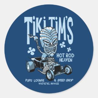 Tiki Tim's Classic Round Sticker