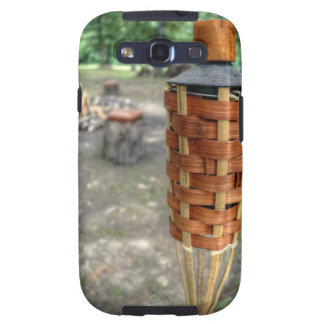 Tiki Torch and Camp Fire Samsung Galaxy SIII Cover