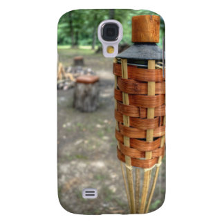 Tiki Torch and Camp Fire Galaxy S4 Case