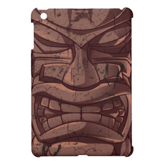 Tiki Wooden Statue Totem Sculpture  iPad Mini Case