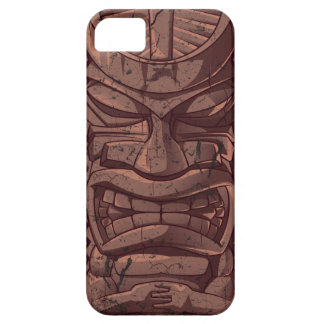 Tiki Wooden  Statue Totem Sculpture Iphone 5 Case
