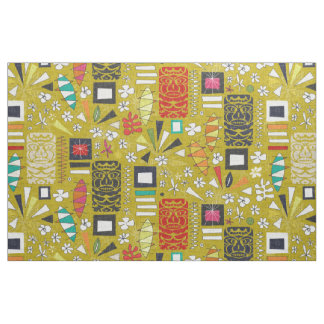 tiki yellow fabric