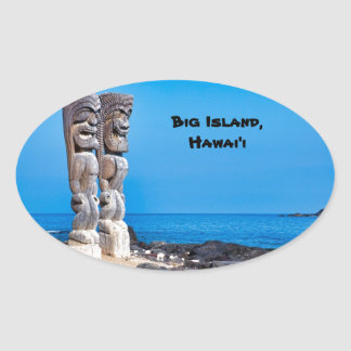 Tikis in Paradise Oval Sticker