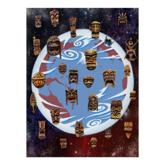 Tikis Over Earth Poster