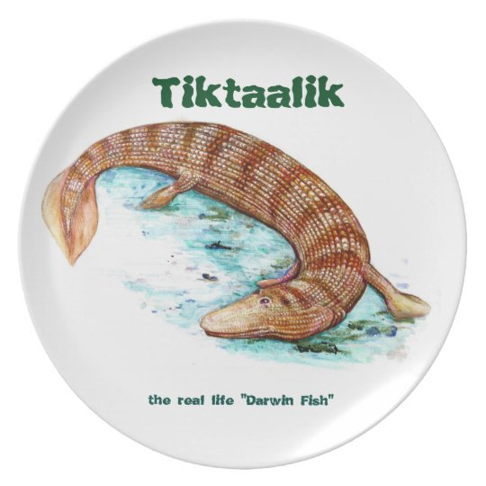 Tiktaalik decorative plate