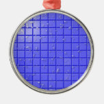 [TIL-BLU-1] Blue shower tile Christmas Tree Ornament