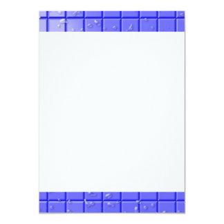 [TIL-BLU-1] Blue shower tile 11 Cm X 16 Cm Invitation Card