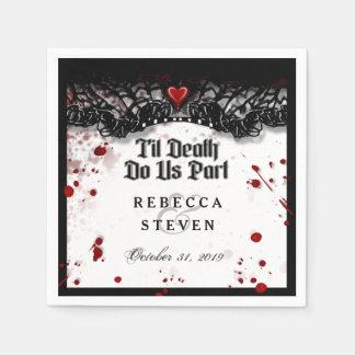 Til Death Do Us Part Blood Splatter Halloween Disposable Serviette