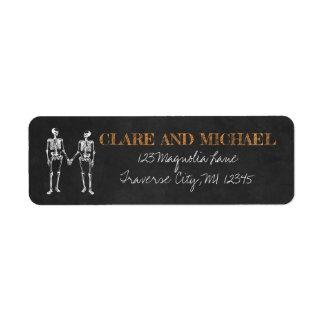 Til Death Halloween Skeleton Orange Black Wedding