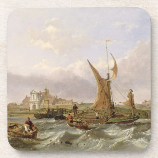 Tilbury Fort - Wind Against the Tide, 1853 (oil on Coaster