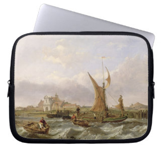 Tilbury Fort - Wind Against the Tide, 1853 (oil on Laptop Sleeve