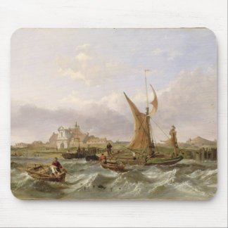 Tilbury Fort - Wind Against the Tide, 1853 (oil on Mouse Pad