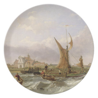 Tilbury Fort - Wind Against the Tide, 1853 (oil on Plate
